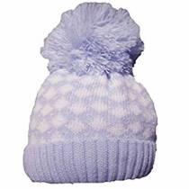 SHEL Blue & Wt Bobble Hat