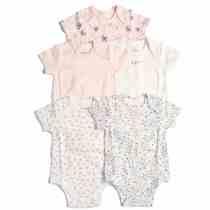 5 Pack Girls Pink Bodysuit