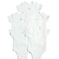 5 Pack White Short Sleeve Bodysuit