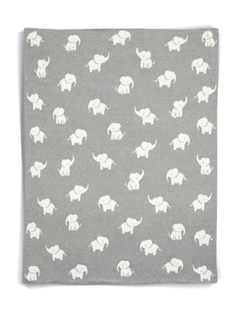 Mamas & Papas Welcome To The World Elephant Knitted Blanket