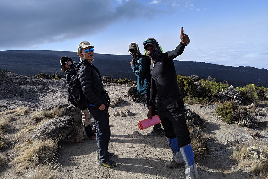 Hiking Kilimanjaro machame Route