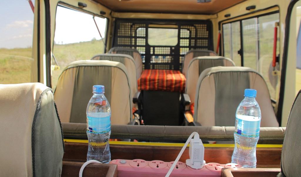 inside Luxury Safari Vehicle