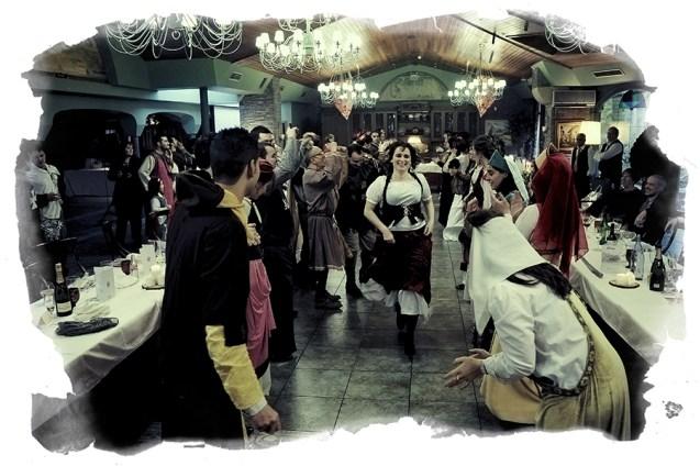 Fotografía de una boda medieval