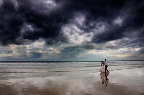 Postboda en la playa. Hendaia