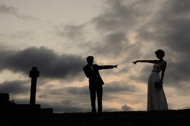 """Fotografía de boda """"siluetas en en cielo"""""""