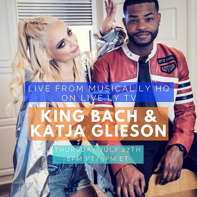 ComeThru on @live.ly in 3 hours! Follow @kingbach & @katjaglieson (song link in bio)