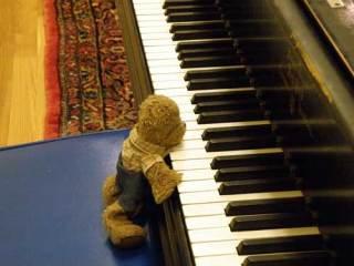 Lippe at the piano