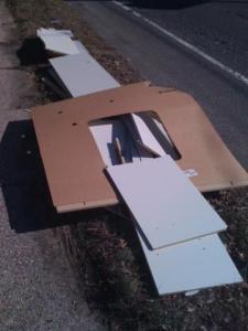 smashed furniture