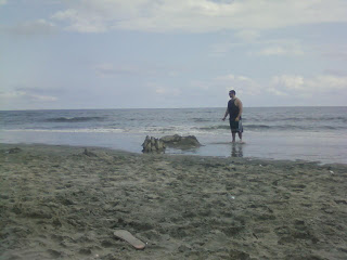 beach after rain