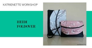 Katrienette workshop #katrienetteworkshop Heidi clutch wristlet foldover swoon swoonpatterns