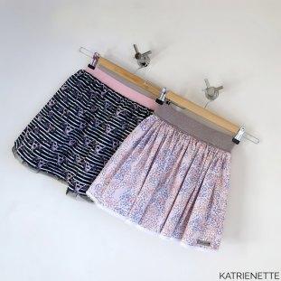 rimpelrokjes rimpelrokje katrienette rokje meisje fast skirt elastic waistband biais biaislint kant tule label