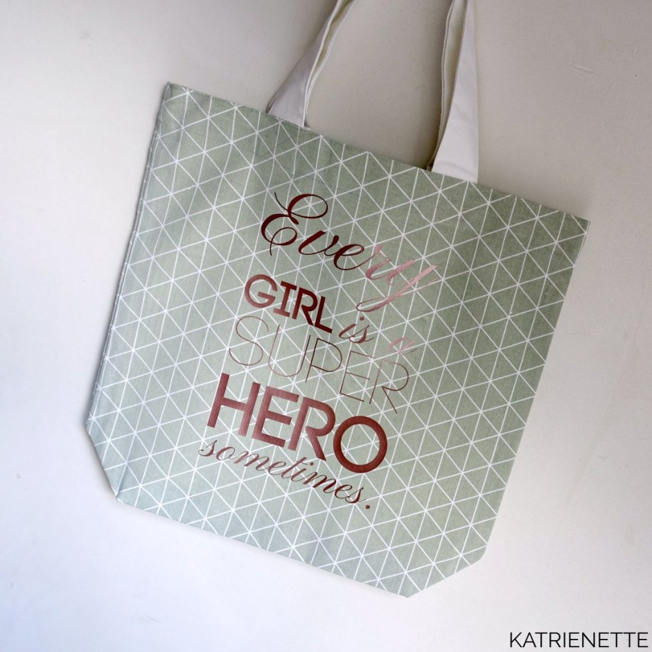 Katrienette K-bas kabas k-bas-tas tote tas quote cameo flex rose gold mint girl