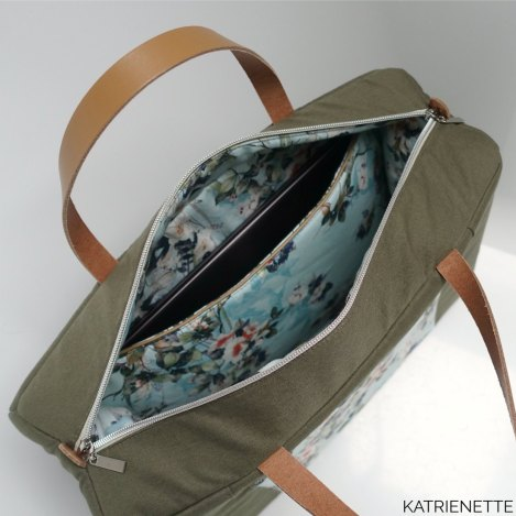 katrienette stinger stinger-tas tas laptop werk gratis patroon girls in uniform GIU Lieve test testerstas