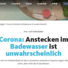 Quarks (WDR): Covid-19: Anstecken im Badewasser ist unwahrscheinlich