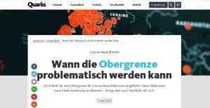 Quarks (WDR): Covid-19: Wann die Obergrenze problematisch werden kann