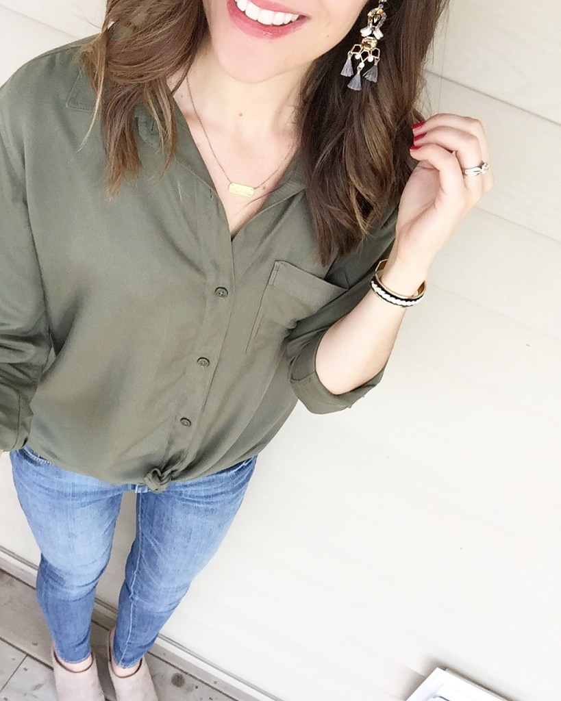 day 2 summer 5x5 style challenge casual jeans & button up