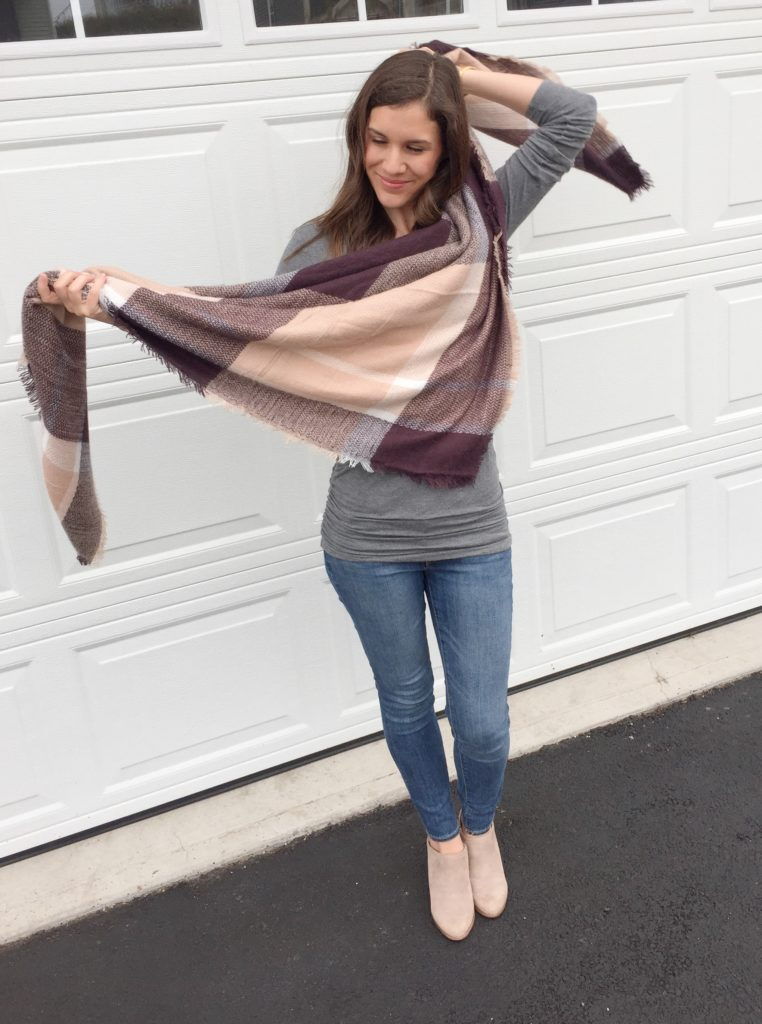 how to tie a blanket scarf with katrina gwen rose - the elegant bib