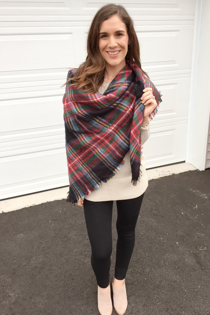 How to tie a blanket scarf - the chic wrap finished look