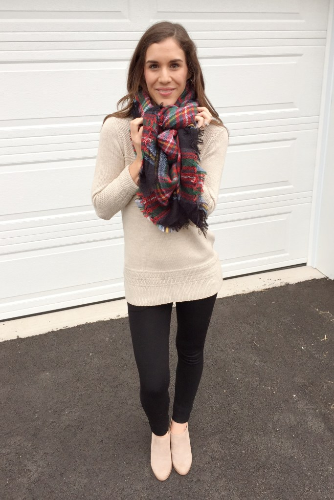 how to tie a blanket scarf - strike a pose