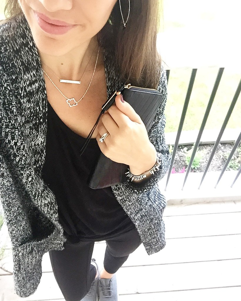 Athleisure look with all black outfit
