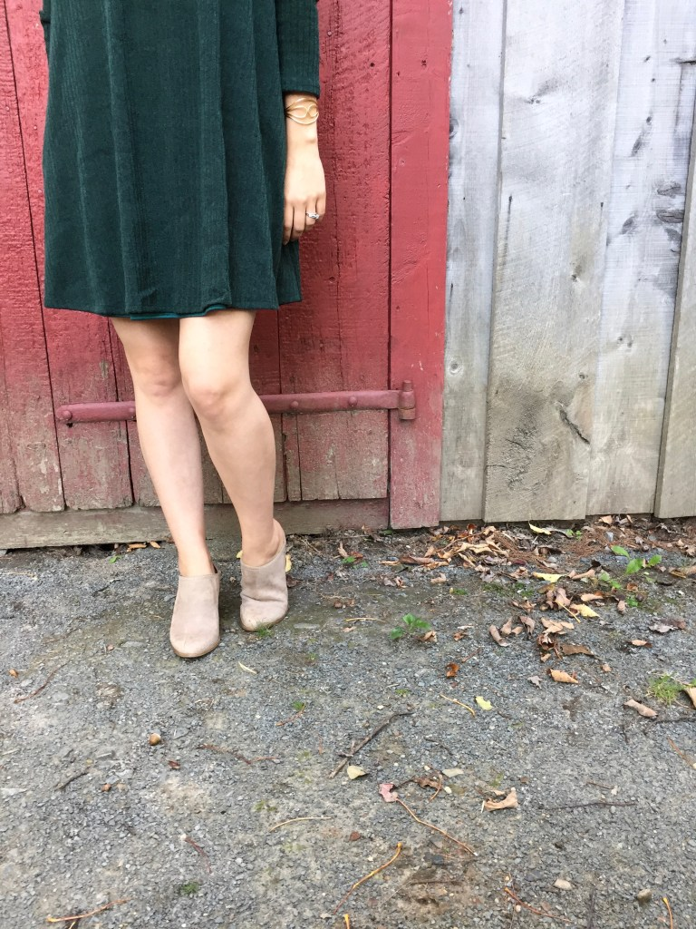 nude booties make the perfect all shoe