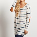Stripes and Elbow patches make this the perfect top for fall