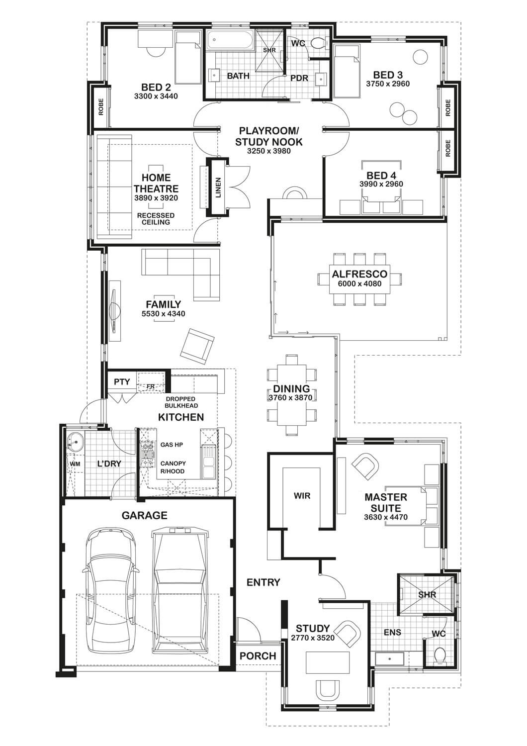 Floor Plan Friday Study Home Theatre Amp Open Play Area
