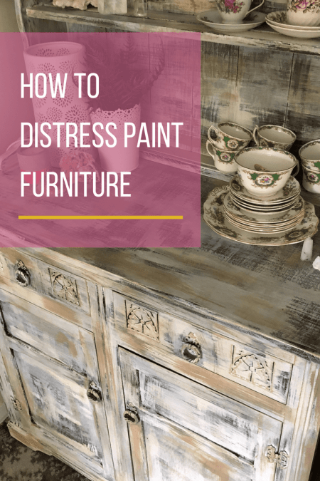 Full video tutorial on how to distress paint wooden furniture with chalk or vintage paint