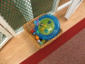 Lite leksaker som väntar på att användas.