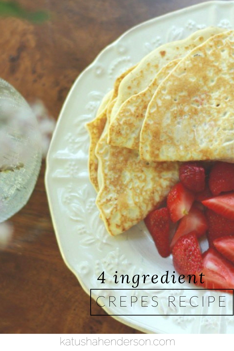 4 ingredients crepes recipe