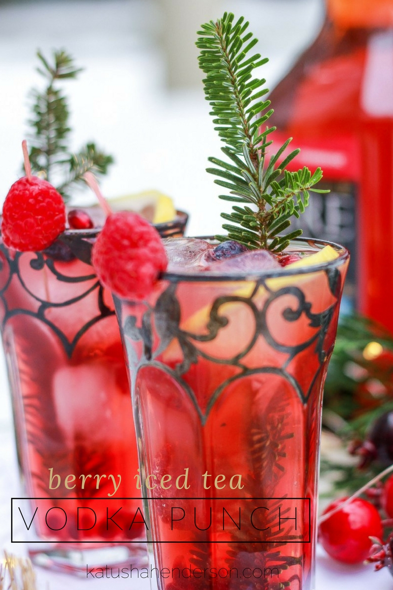 ice tea berry vodka punch