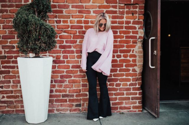 Flares, KatWalkSF, Kat Ensign, Kathleen Ensign, SF Blogger, San Francisco Blogger, Show Me Your Mumu, Nordstrom Sweater, Le Specs, Public Desire, White Boots, Fall Fashion, Trend, SF Stylist, Fashionista, Fashion Diaries, Blogger Style, Vintage Chanel Bag, Silver Hair