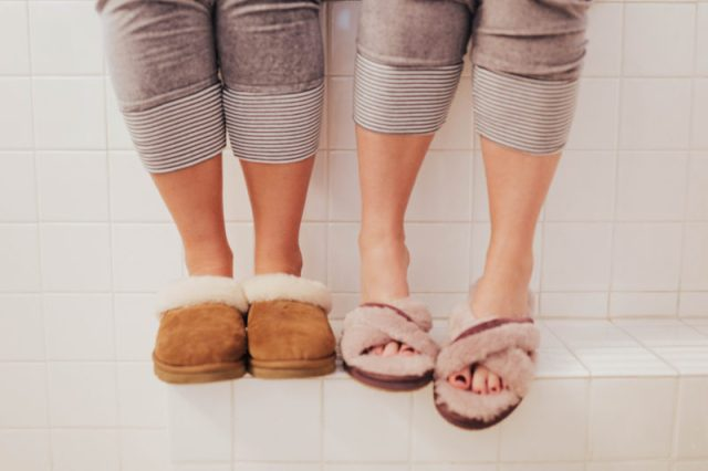 KatWalkSF, Kat Ensign, Ashley Zeal, Two Peas in a Prada, Slippers, Gift Guide, Tuesday Shoesday, Shoe of the day, Slippers, Comfy Shoes, Holiday Style, Argonaut Hotel, Slipper Style, Winter Style, Pink Slippers, Wool Slippers, San Francisco Bloggers, San Francisco Style,