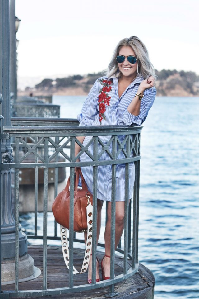 Striped Shirtdress on the Bay