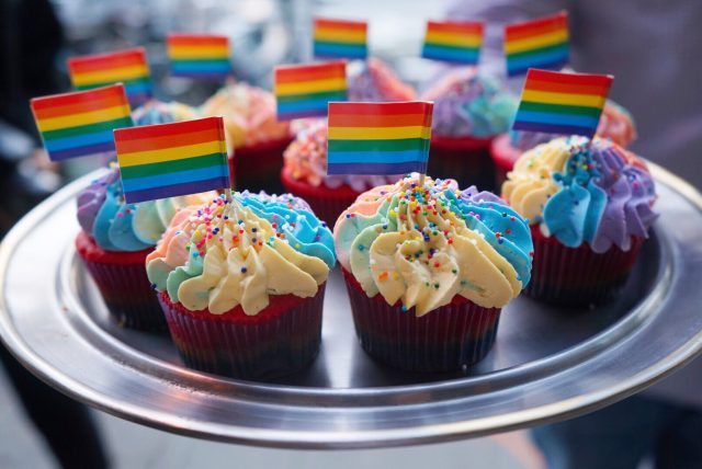 Rainbow Cupcakes, Finn Town, Rainbow Snow Cone, KatWalkSF, KatFoodSF, SF Pride, SF Blogger, Pride SF, Harvey Milk, Pride 2017, Market Street, SF Style, My San Francisco, Only SF, Always SF, SF Blogger
