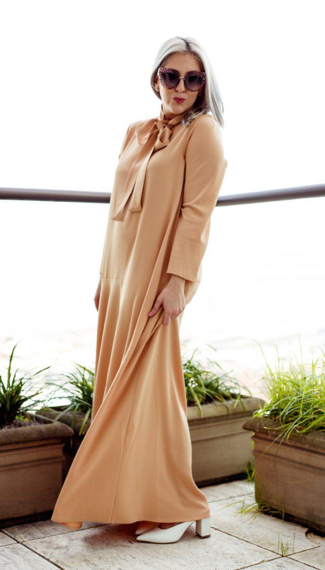 Uniqlo, Stella McCartney, Muslim Fashion Designer, Hana Tajima, Flare Sleeve, Maxi Dress, Caftan, Fashion Blogger, Style Blogger, KatWalkSF, Kathleen Ensign, Pussy Bow, Kaftan, San Francisco, SF Style, Fashionista, Stylist
