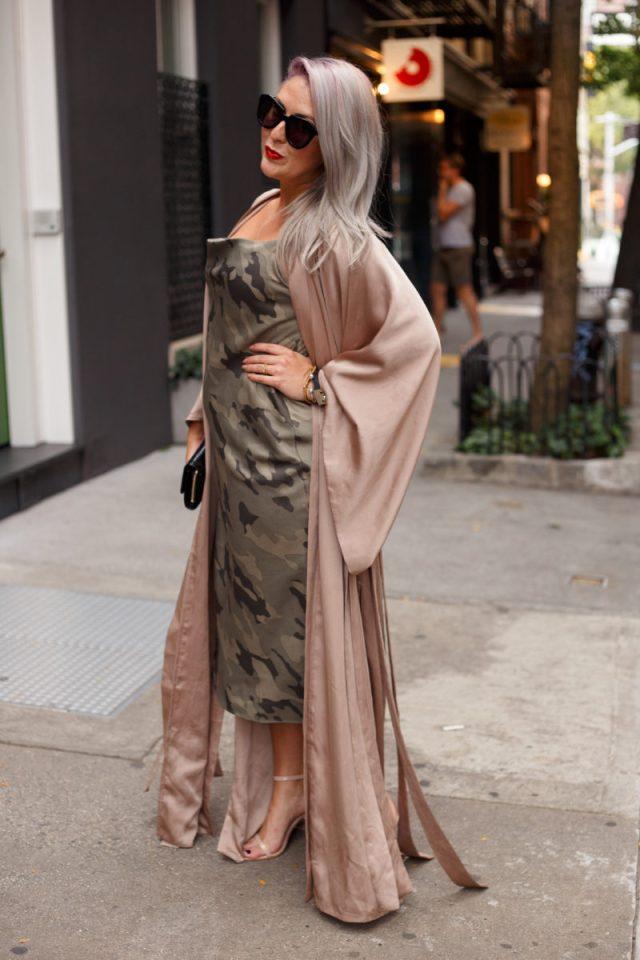 NYC, New York Fashion Week, KatWalkSF, Kat Ensign, Camo Print, Chanel Bag, Banana Republic, Purple Hair, Braids, Vintage, Fame and Partners, San Francisco Blogger, Blogger Style, Stylist, Yolo