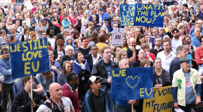 Norwich Stays pro-EU anti-Brexit rally, 7 July