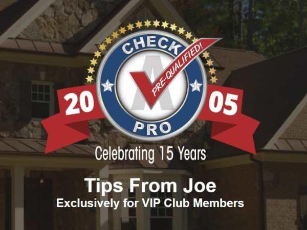 Tips From Joe – Nov 2 2020