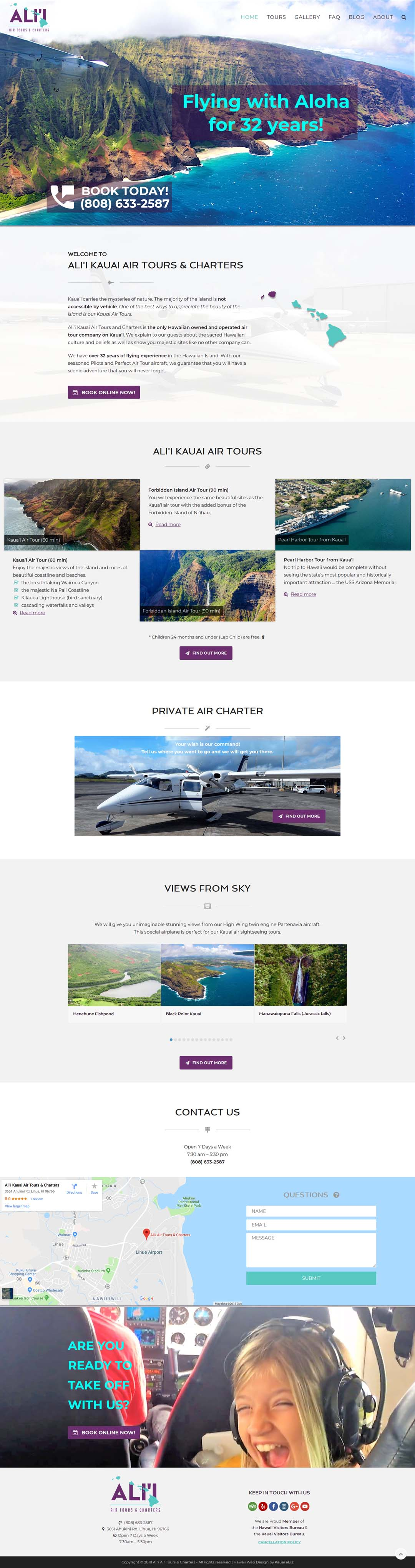 Ali'i Kauai Air Tours Website