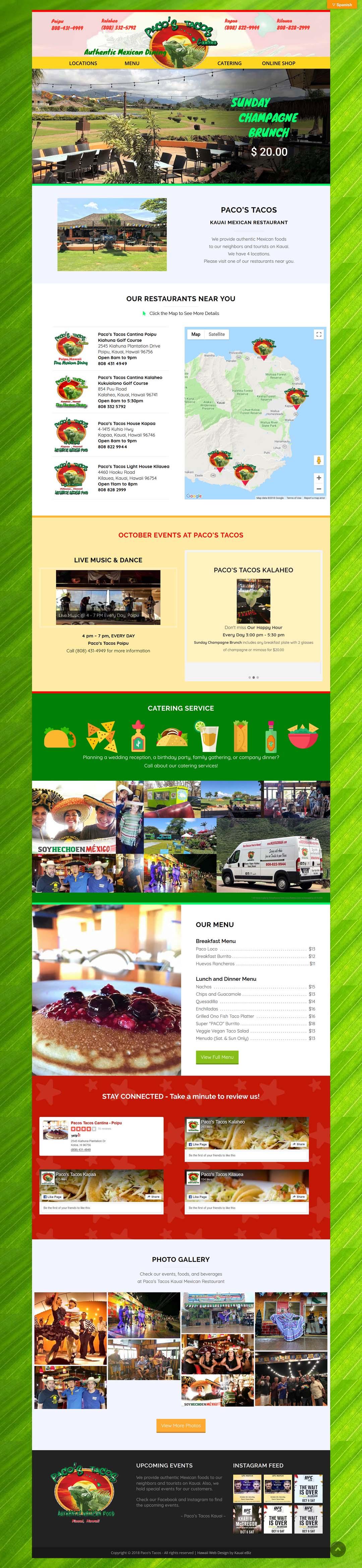 Paco's Tacos Online Shop