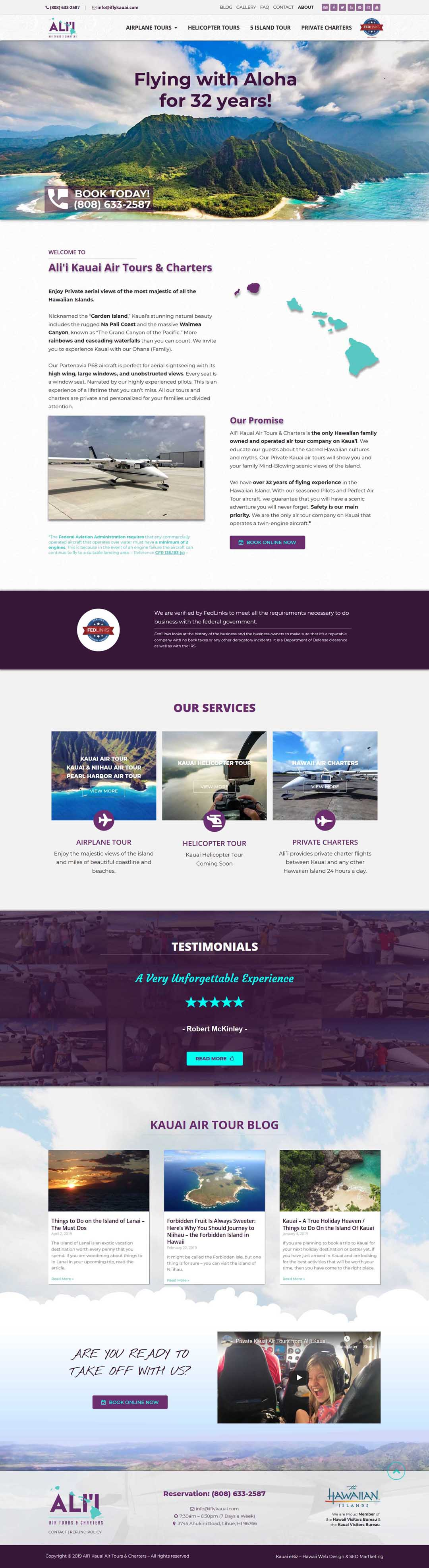 Hawaii Air Tour Company website