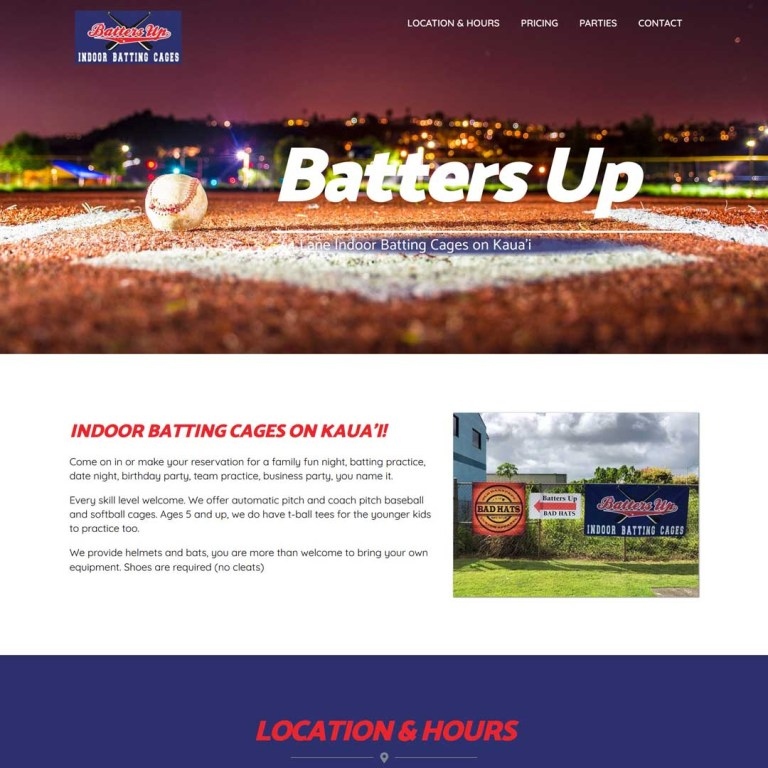 Batting Cage Website Kauai