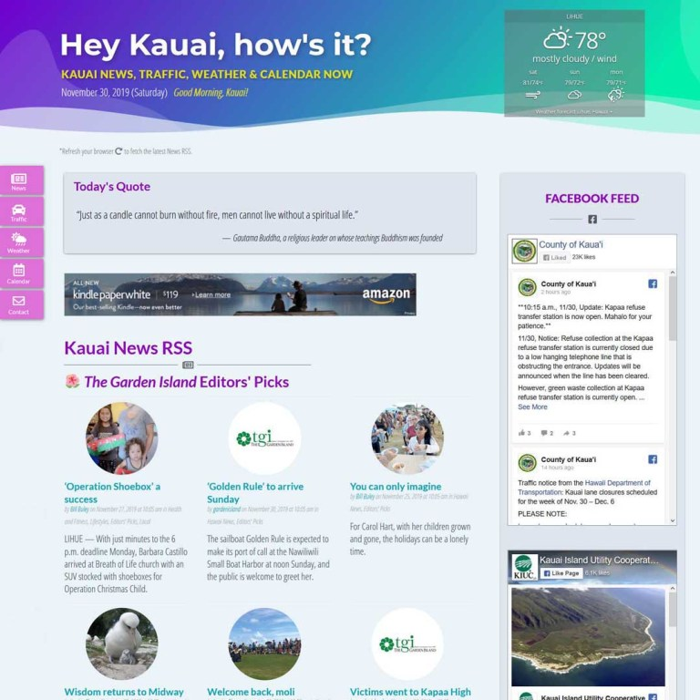 Kauai local news website