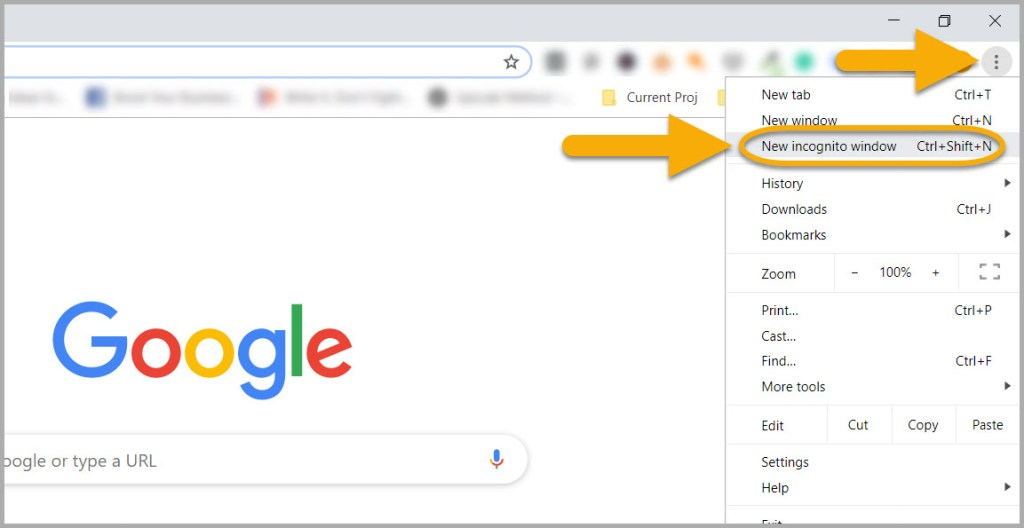 How to use Incognito Chrome