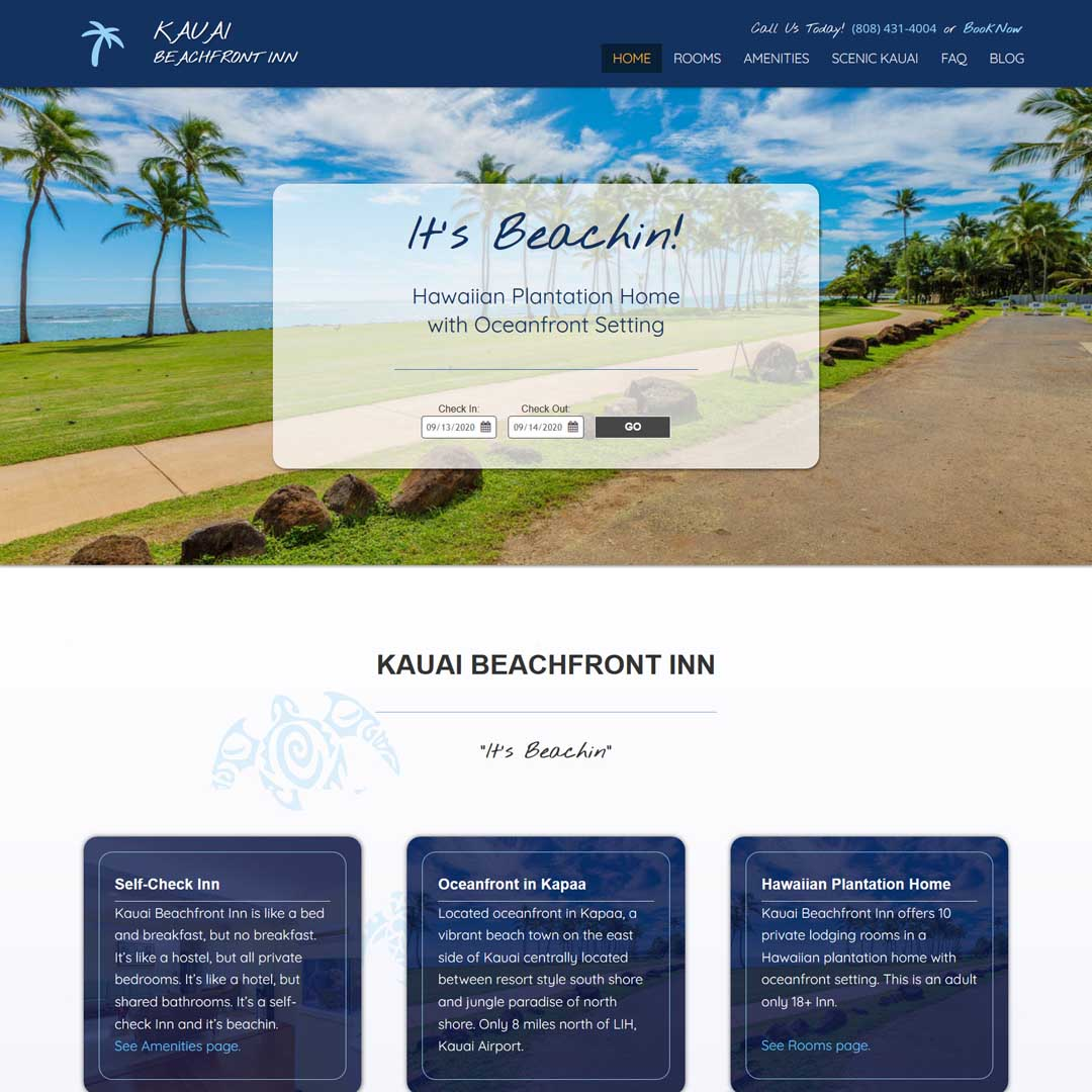 Kauai Hostel Web Design