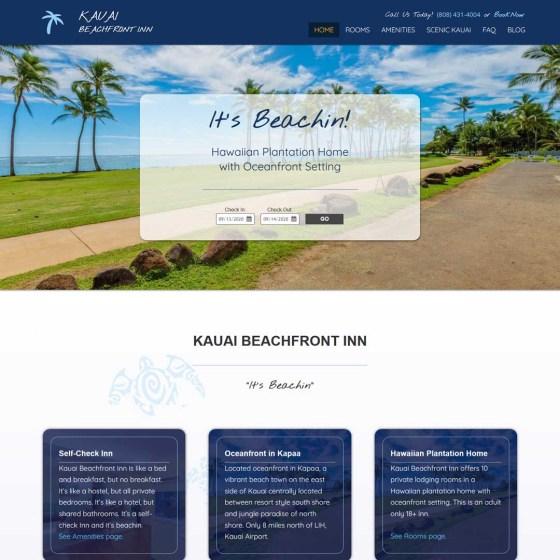 Kauai Hostel Web Design