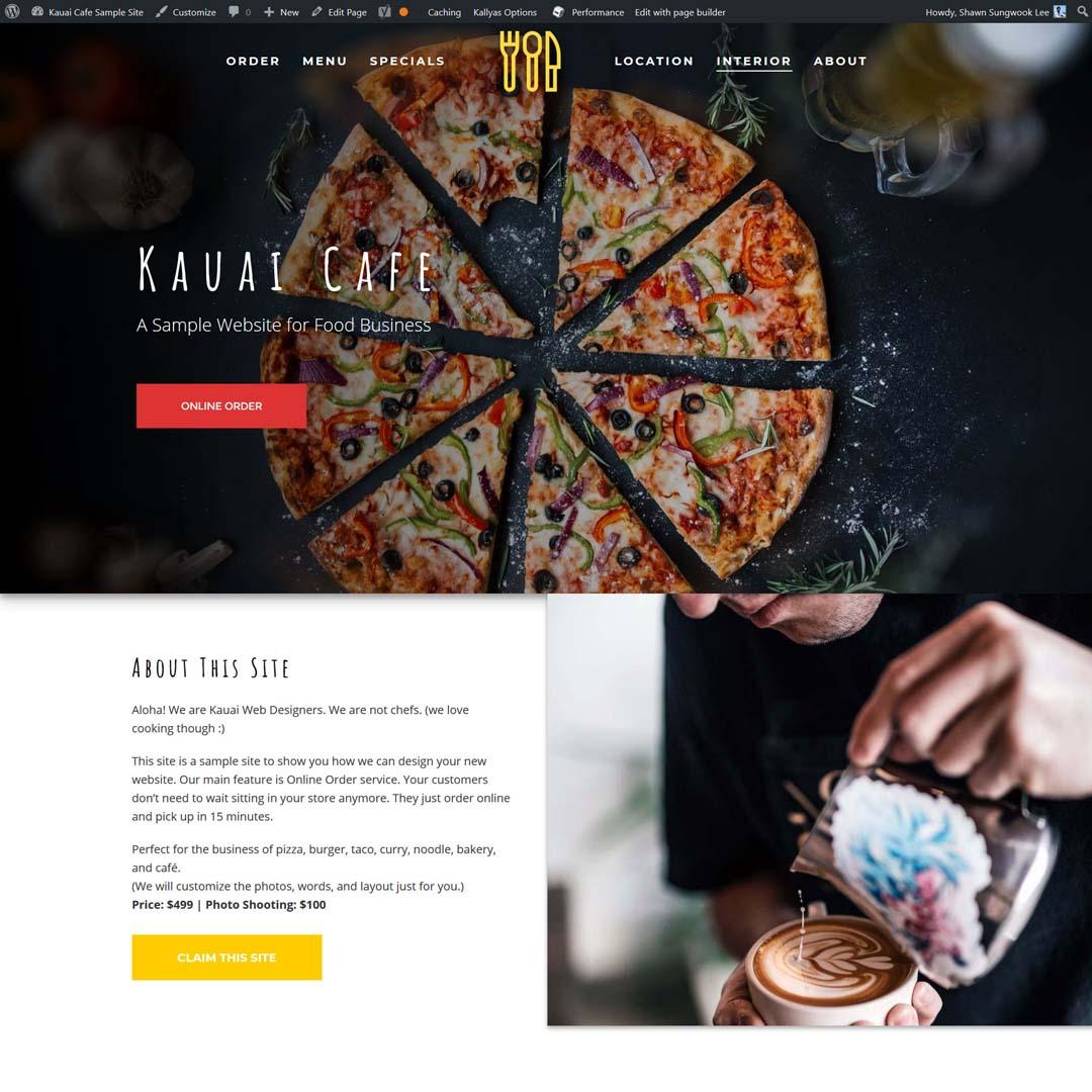 Kauai Cafe Restaurant Website