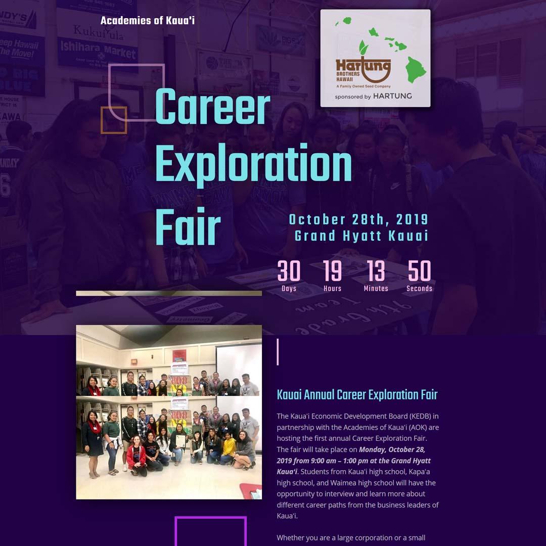 Kauai Career Fair Landing Page