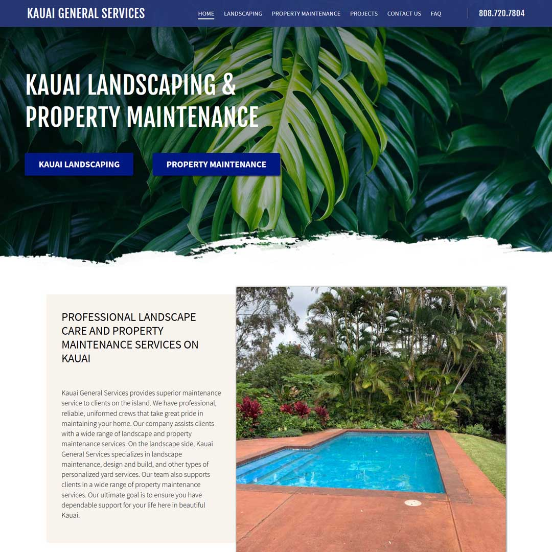 Kauai Landscaping & Property Maintenance Web Design